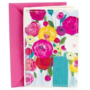 Hallmark Signature Fabric Floral Birthday Card
